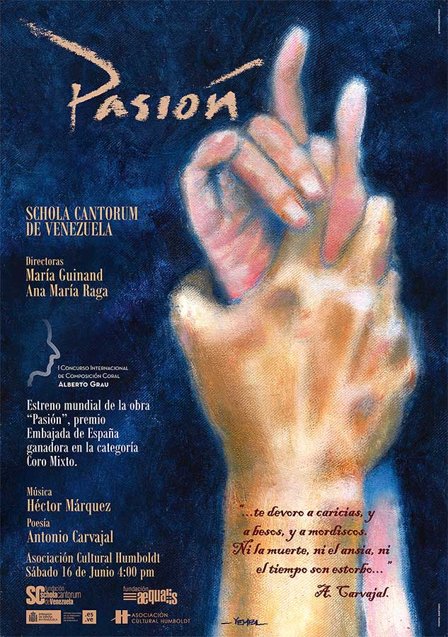 """La Schola Cantorum de Venezuela dará inicio con """"Pasión"""" al ciclo de estrenos en Caracas del I Concurso Internacional de Composición Coral Alberto Grau"""