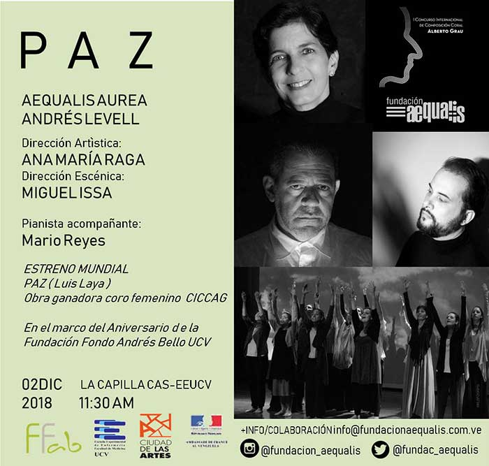 Aequalis Aurea y Andrés Levell juntos en el cierre del ciclo de estrenos del CICCAG